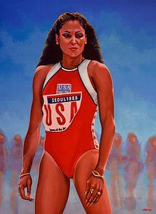 Florence Griffith - Joyner schilderij