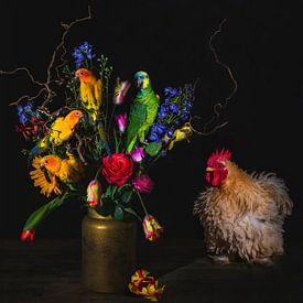 Vogels en bloemen, birds and flowers van Corrine Ponsen