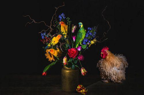 Vogels en bloemen, birds and flowers