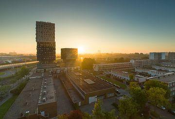 Zonsopkomst Groningen (Nederland) van Marcel Kerdijk