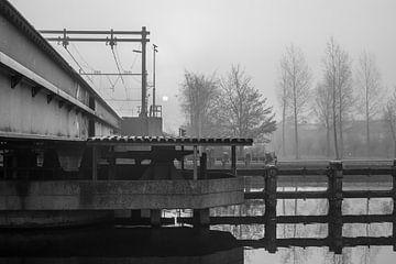 Spoorbrug over Noordhollands kanaal von Els Broers