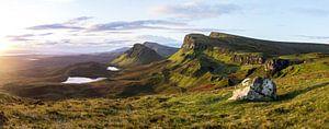 Zonsopkomst in the Quiraing op Skye, Schotland van Douwe van Willigen