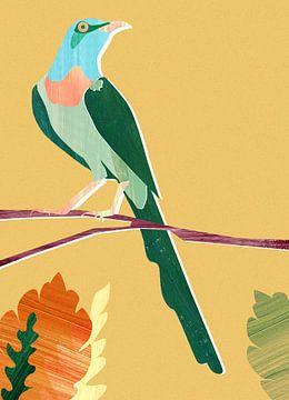 Groene Vogel van Goed Blauw