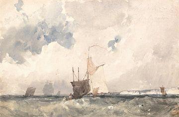 Schiffe in einem kabbeligen Meer, Richard Parkes Bonington
