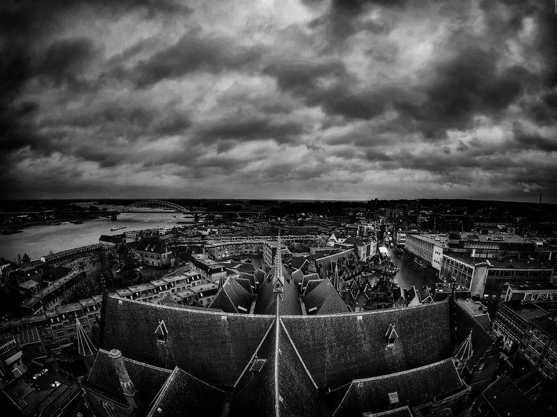 Dark clouds over Nijmegen van Lex Schulte
