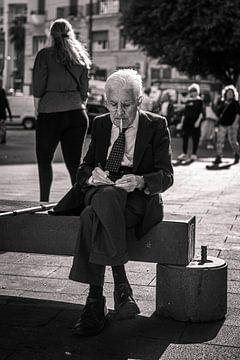 Schwarz-Weiß-Foto Italiener von Bram van den Broek
