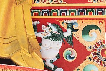 Tibetaanse sneeuw leeuw van yourtravelreporter