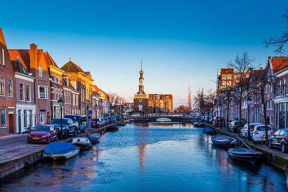 Het oude stadscentrum van Alkmaar,  Nederland