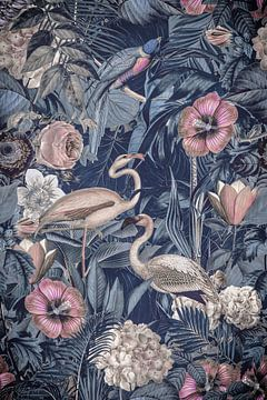 Tropenparadies mit Flamingos von Andrea Haase