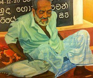 Vismarkt Sri lanka von Bert Jan Nieuwenhuize