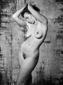 Sehr schöne nackte Frau in schwarz-weiß fotografiert. #136 von william langeveld