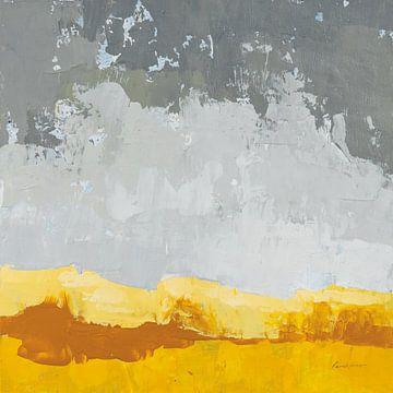 Landschap geel grijs, Pamela Munger van Wild Apple