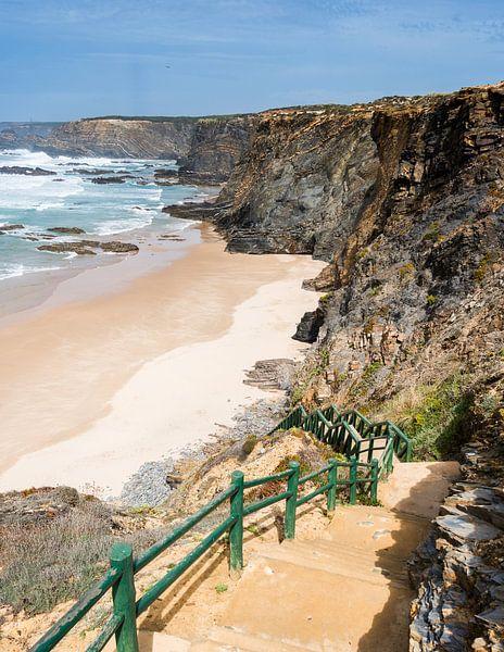 atlantic ocean beach portugal van Compuinfoto .