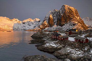 Sonnenaufgang auf den Lofoten von Antwan Janssen