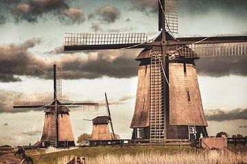 Mühlen bei Schermerhorn von Frans Lemmens