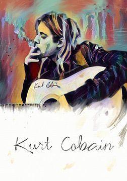 Kurt Cobain  -  Art Poster Print van MD JO