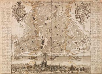 Mainz, Karte, 1755