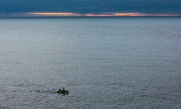 Visserman op zee van Daan Kloeg