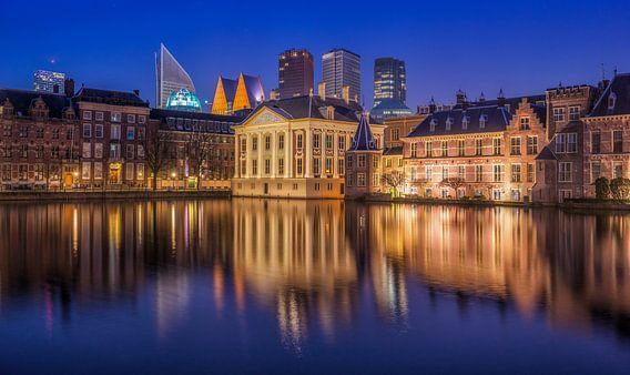 Den Haag, hofvijver en skyline