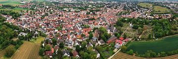 Panorama aérien du quartier Hechtsheim de la ville de Mayence sur menard.design - (Luftbilder Onlineshop)