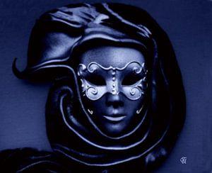 Maske in blau.......