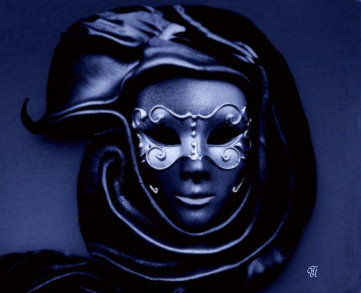 Maske in blau....... sur Thea Ulrich / UtheasArt