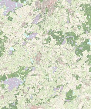 Kaart van Midden-Drenthe