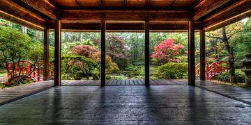 """""""Alle wonderen die je zoekt vind je in je zelf """",  Japanse tuin wijsheden van Hans Brinkel"""