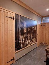 Kundenfoto: Kuhe im alten Kuhstal von Inge Jansen, auf nahtloser fototapete