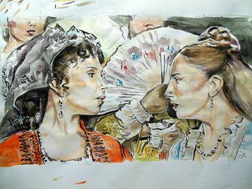 Carmen en Mercedes von Lucia Hoogervorst