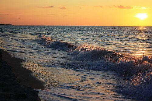 Cubaanse zonsondergang van Pamela Fritschij