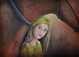 Pferdemädchen ( horsegirl) Ölgemälde von Els Fonteine