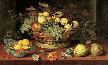 Balthasar van der Ast, Stilleven van een mand met fruit von Meesterlijcke Meesters