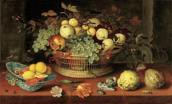 Balthasar van der Ast, Stilleven van een mand met fruit van Meesterlijcke Meesters