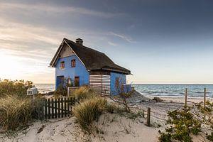 Het blauwe huis aan zee