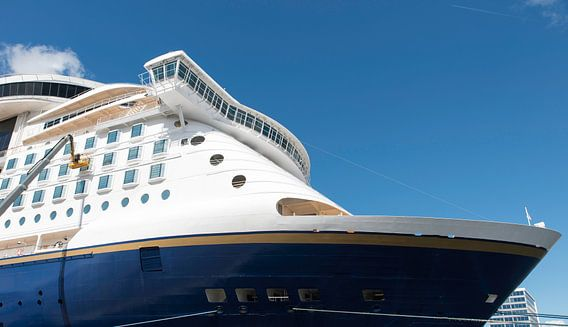 cruise schip in de haven van Kiel
