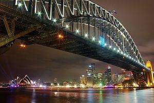 Skyline van wolkenkrabbers en overzichtsfoto van Sydney, Australië en de bekende Harbour Bridge