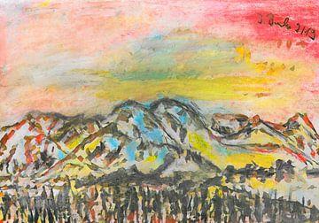 Berge 1 von Johann Bucher