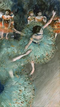 Edgar Degas. Danseuse basculant (Danseuse verte) van 1000 Schilderijen