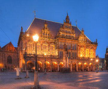 Stadhuis in de schemering, Bremen van Torsten Krüger