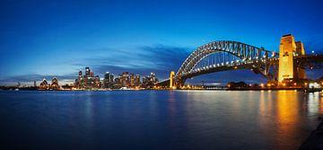 Melbourne, port, pont et opéra sur Natasja Tollenaar