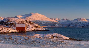 Winterlandschaft mit Bootshaus in Norwegen von Adelheid Smitt