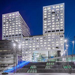 Stadskantoor Utrecht in het blauwe uur