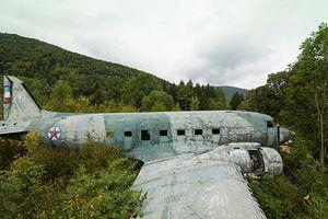 Verlassenes Wrack von Militärflugzeig Dakota Kroatien