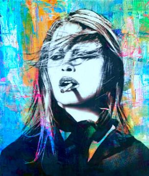 Motiv Brigitte Bardot - Abstrakt Game van