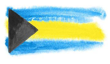 Symbolische Nationalflagge der Bahamas von Achim Prill