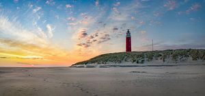 Vuurtoren Eierland Texel zonsopkomst van