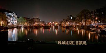 Amsterdam - Vue depuis le Magere Brug sur Sabine Wagner