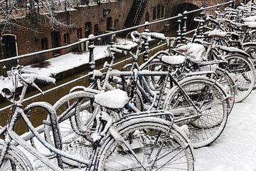 Winter Fahrräder in Utrecht von Daan Kloeg