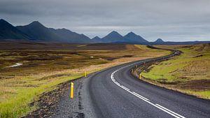 Slingerweg op IJsland van